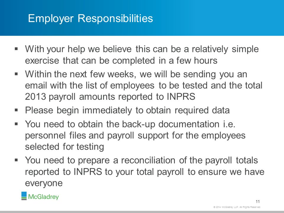 Employer Responsibilities (continued)