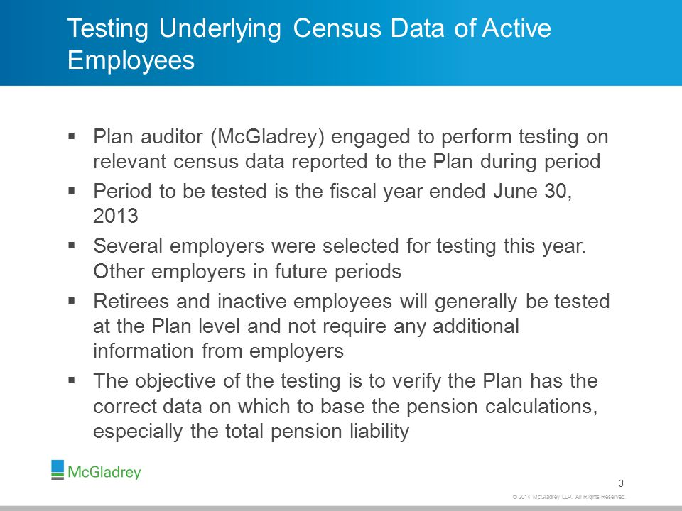 Testing Census Data – Sample of employees