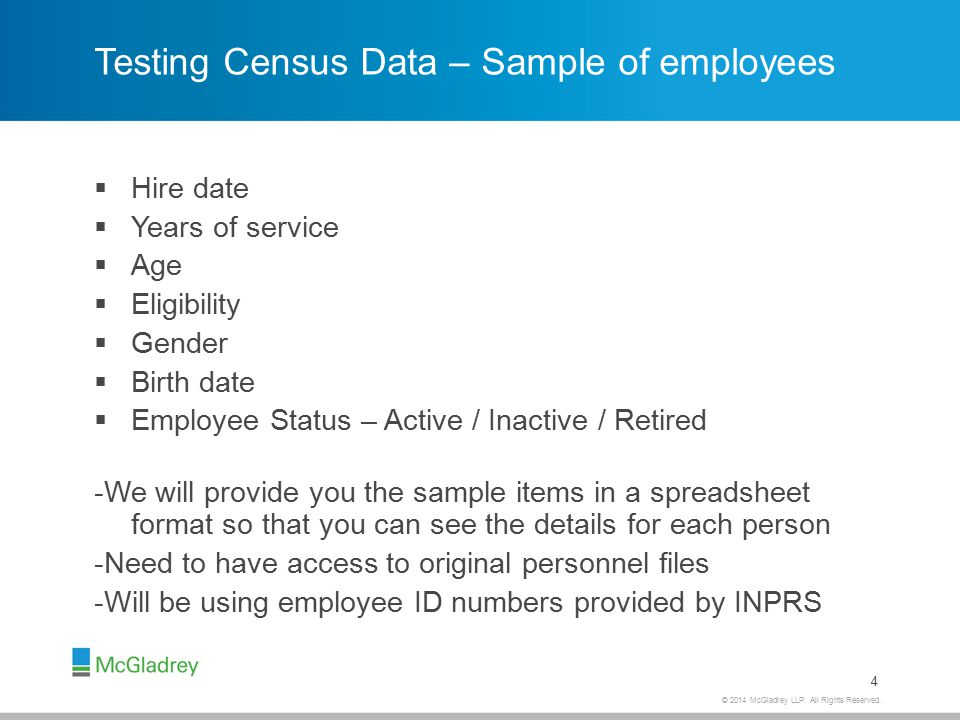 Testing Payroll Data – INPRS Eligible