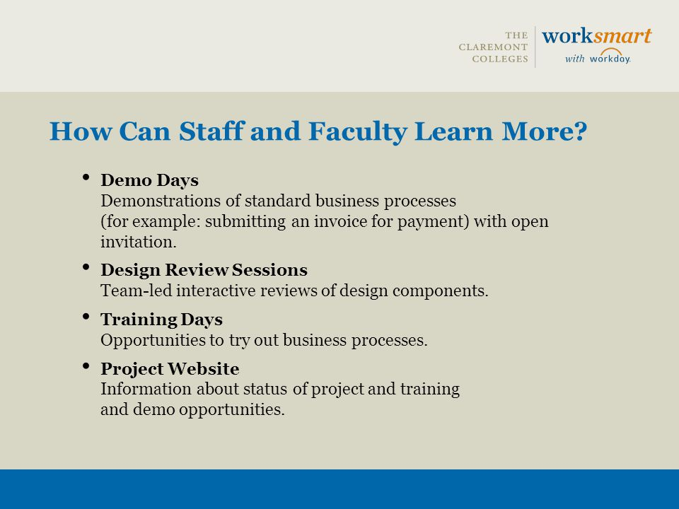 How Can Staff and Faculty Learn More