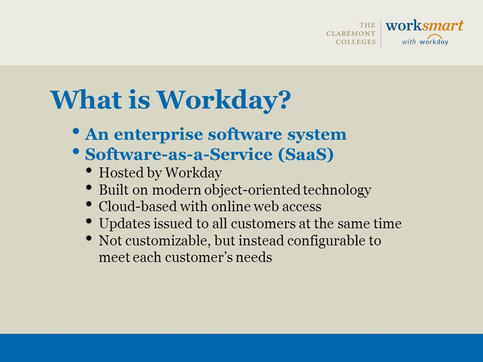 What is Workday An enterprise software system