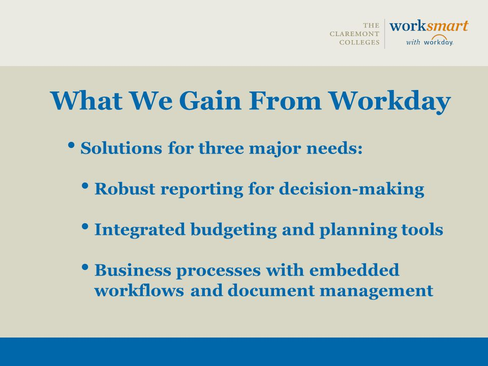 What We Gain From Workday