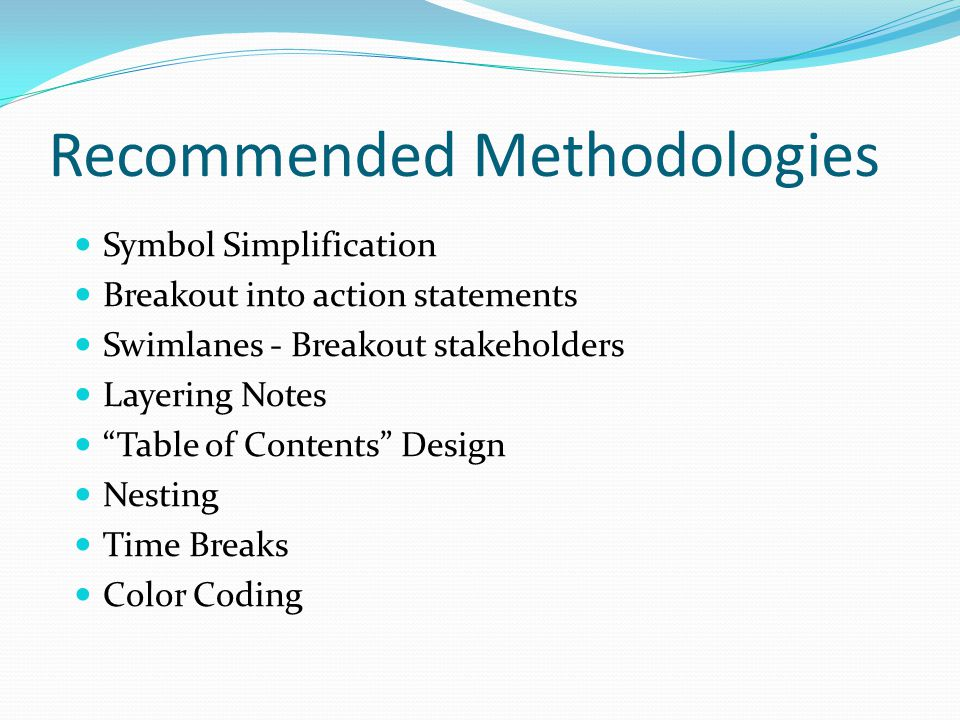 Recommended Methodologies