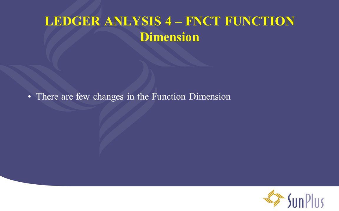 LEDGER ANLYSIS 4 – FNCT FUNCTION Dimension