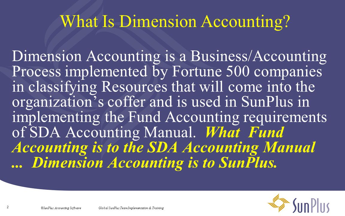 What Is Dimension Accounting