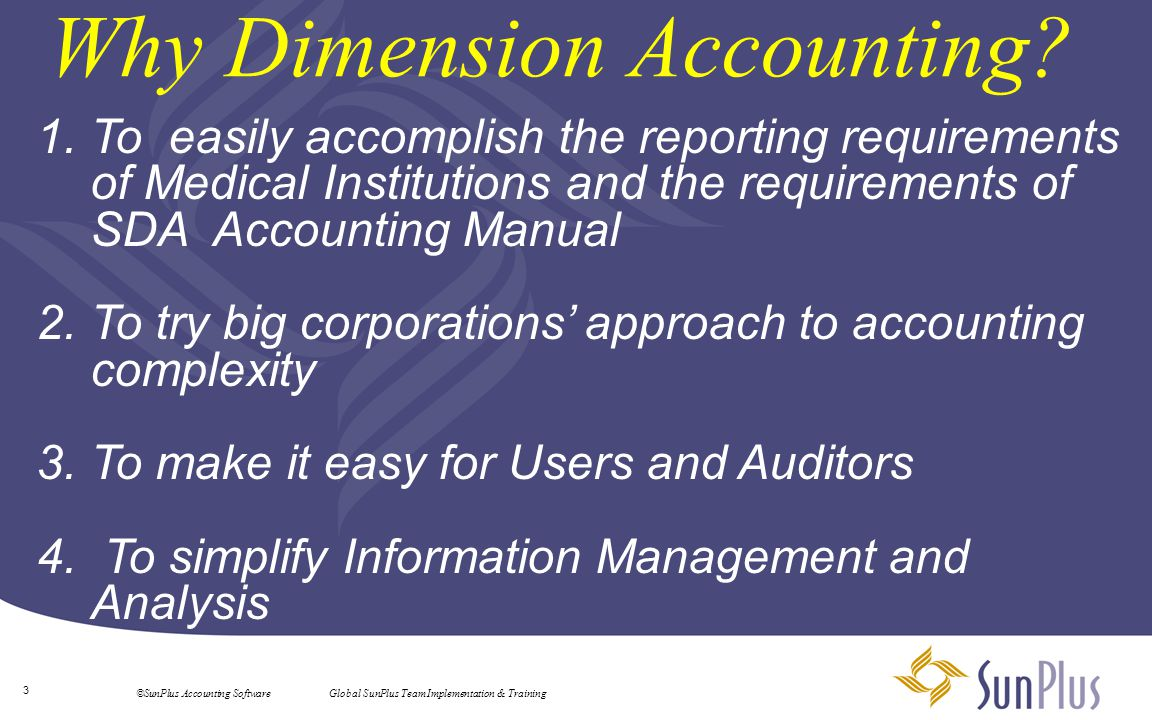 Why Dimension Accounting