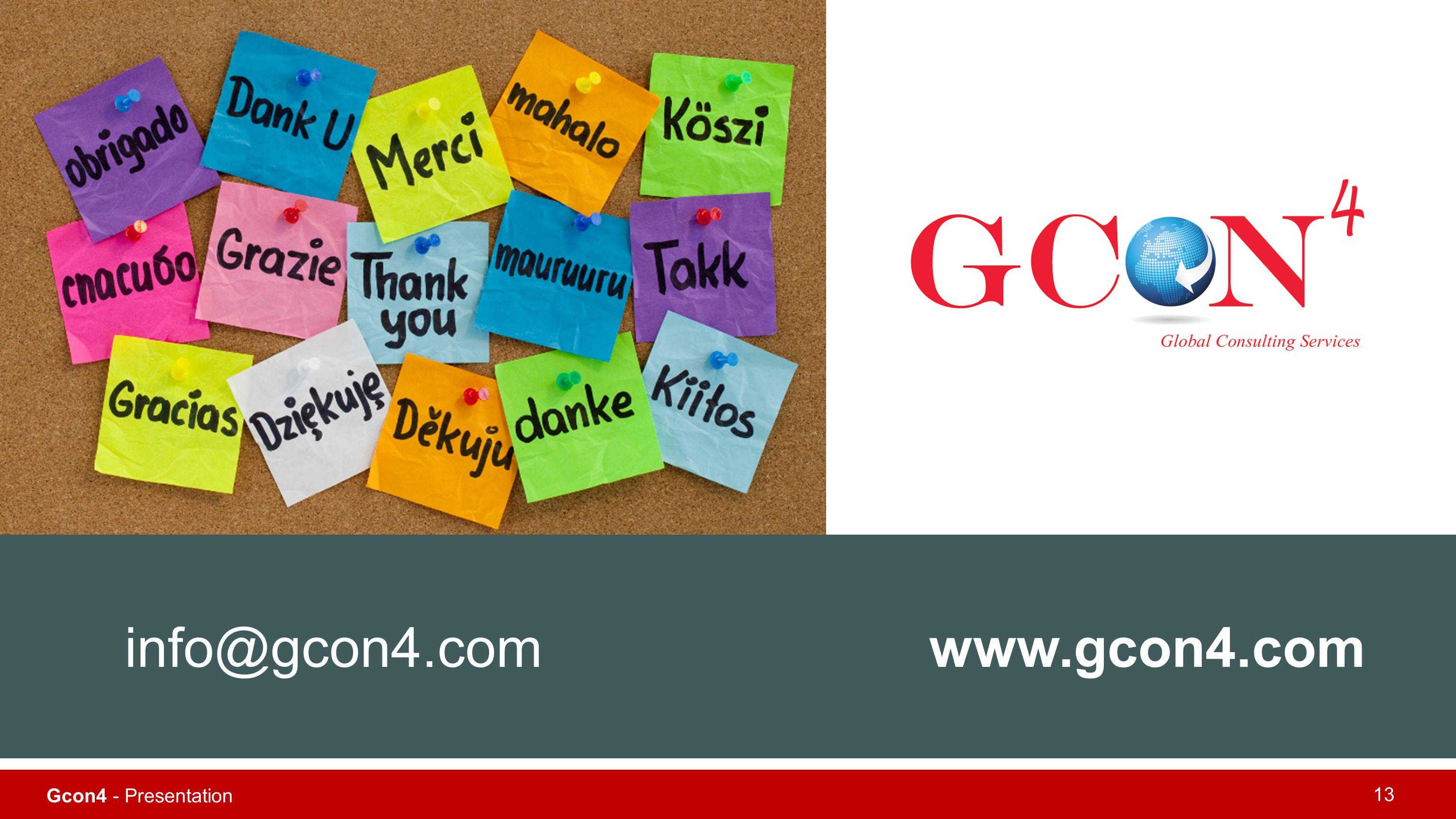 info@gcon4.com www.gcon4.com