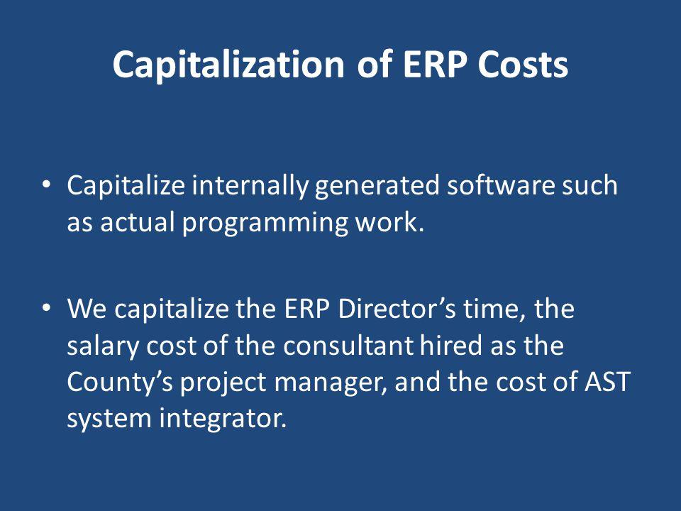 Capitalization of ERP Costs