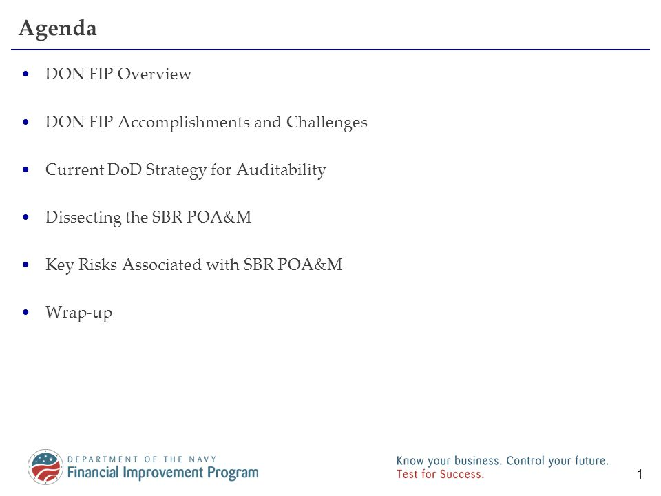 DON Financial Improvement Program (FIP)