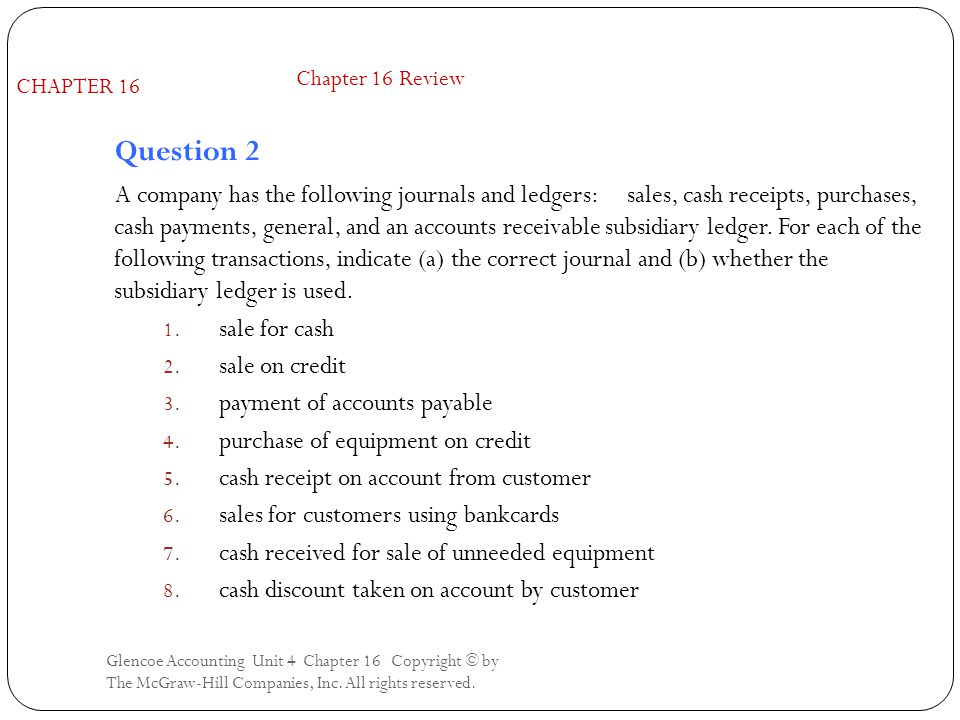 Chapter 16 Review CHAPTER 16. Question 2.