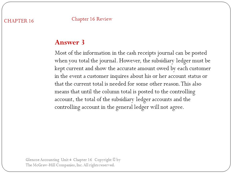 Chapter 16 Review CHAPTER 16. Answer 3.