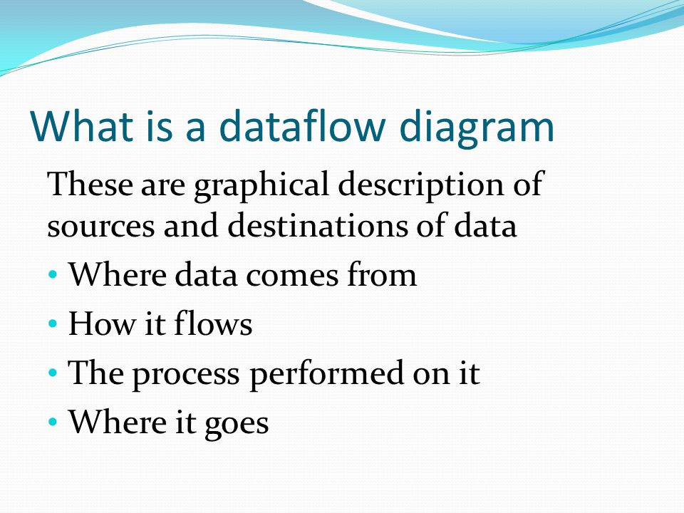 What is a dataflow diagram