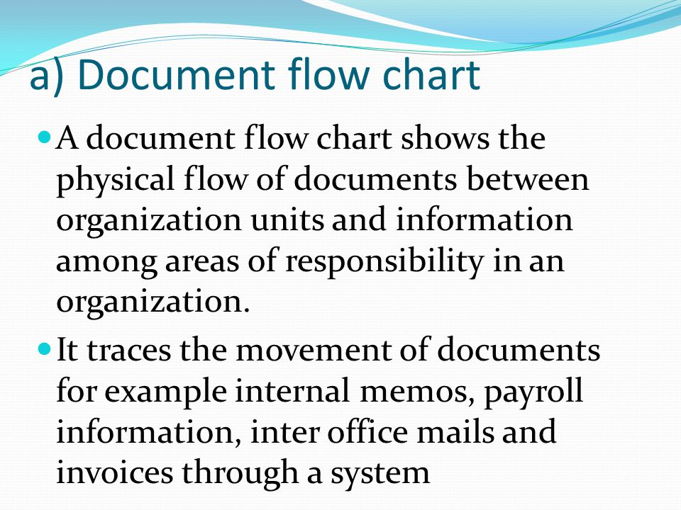 a) Document flow chart