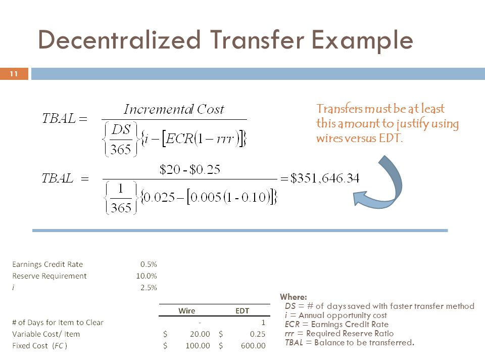 Decentralized Transfer Example