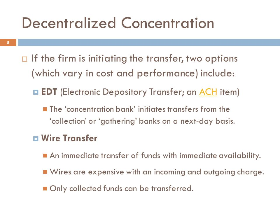 Decentralized Concentration