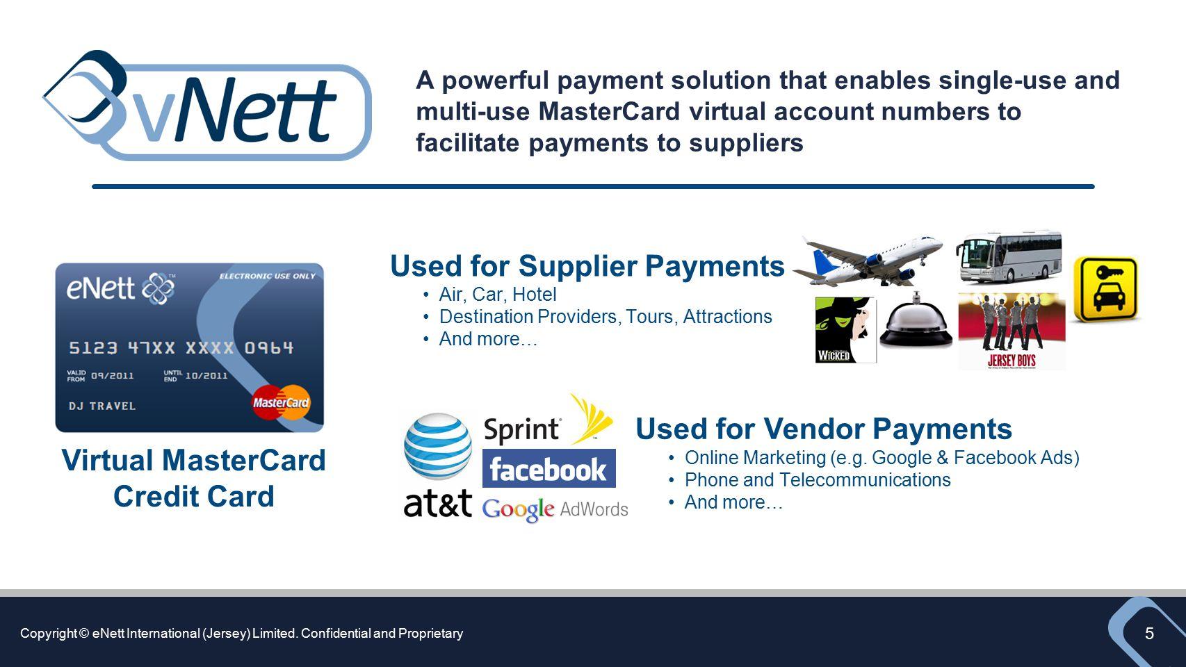 Virtual MasterCard Credit Card