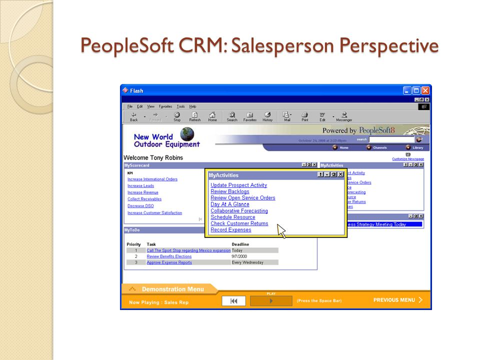 PeopleSoft CRM: Salesperson Perspective