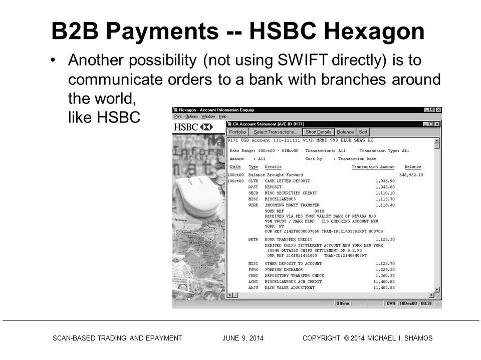 B2B Payments -- HSBC Hexagon