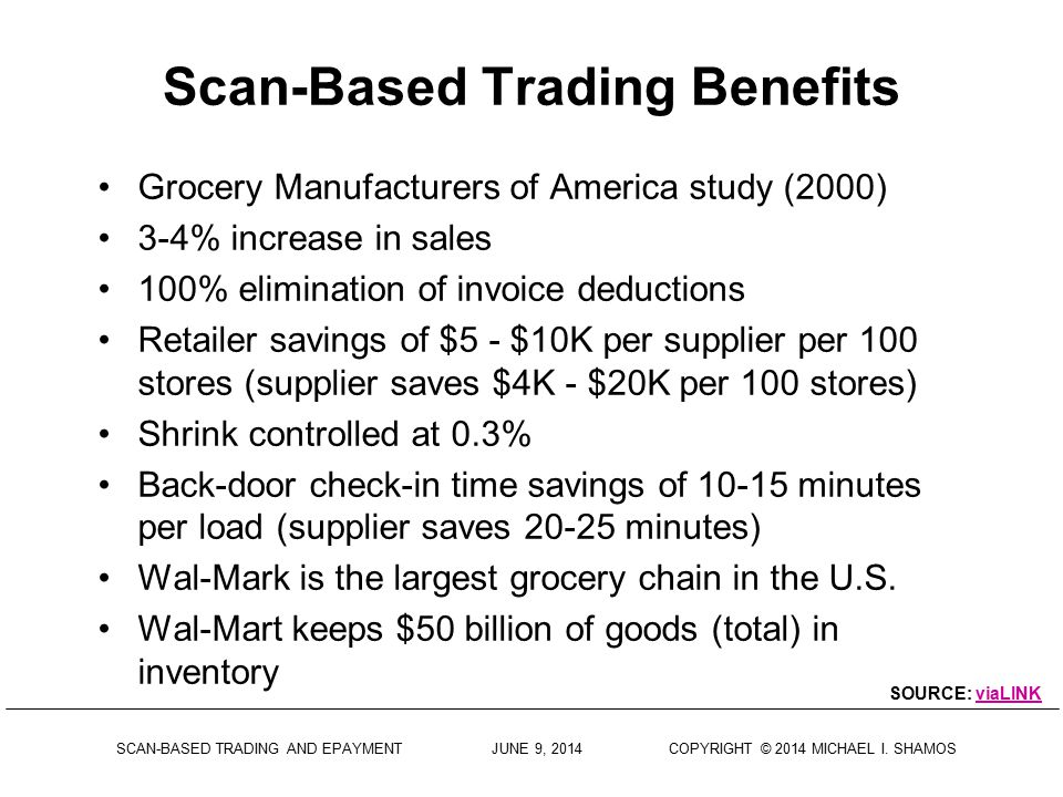 Scan-Based Trading Benefits
