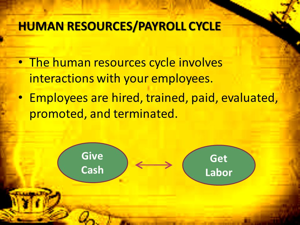 HUMAN RESOURCES/PAYROLL CYCLE