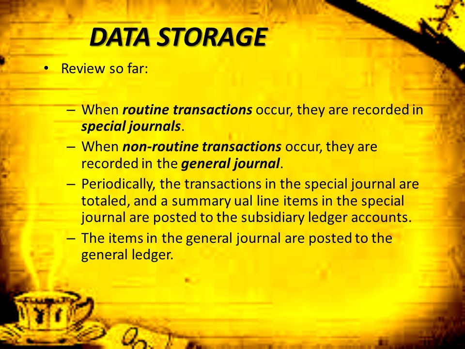 DATA STORAGE Review so far:
