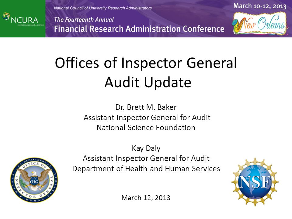 Offices of Inspector General Audit Update