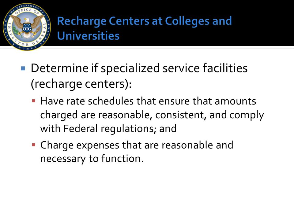 Recharge Centers at Colleges and Universities