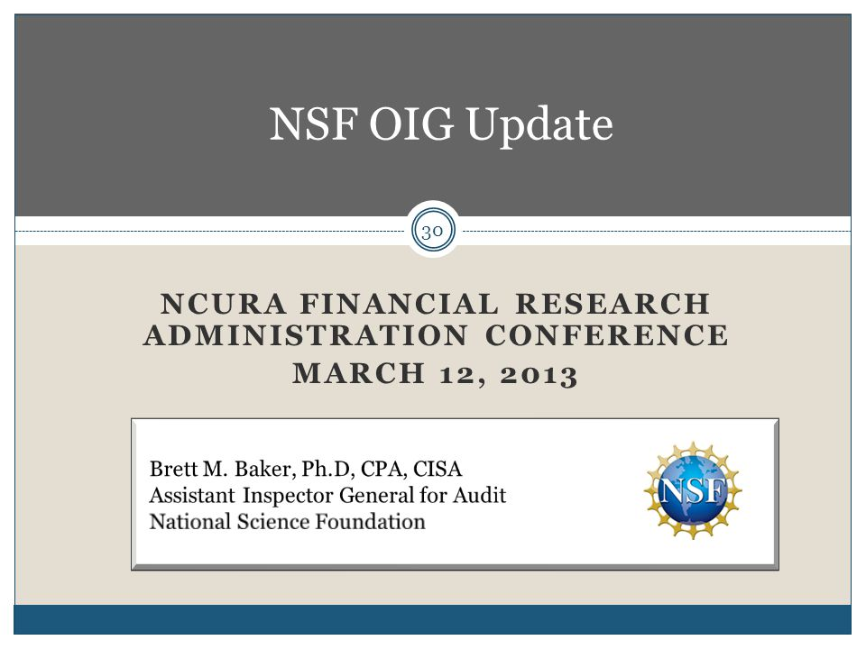 NCURA Financial Research Administration Conference