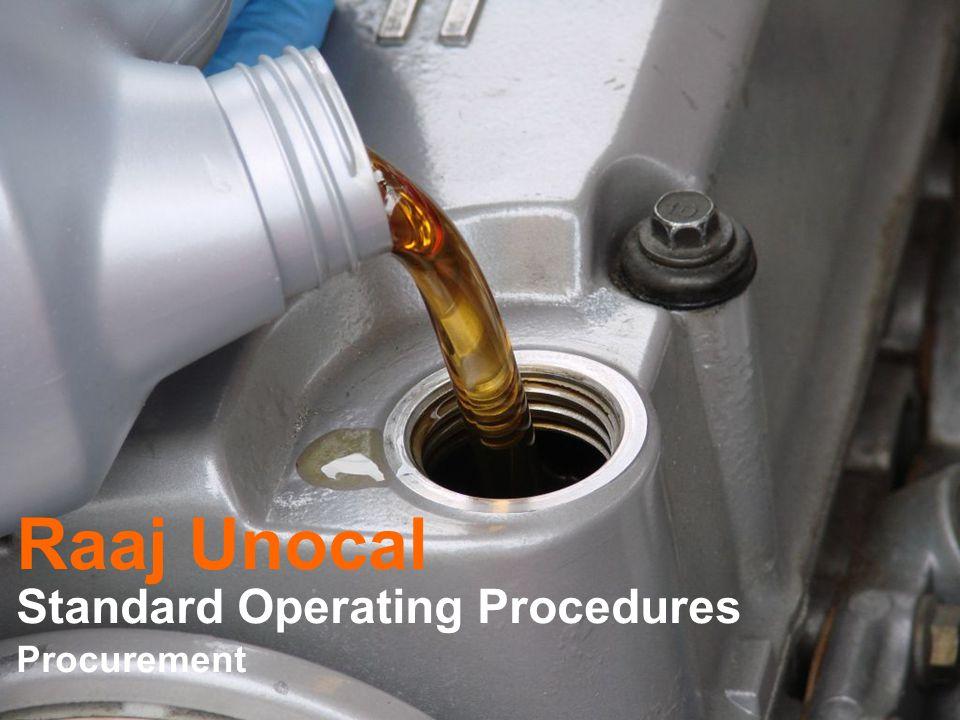 Raaj Unocal Standard Operating Procedures Procurement