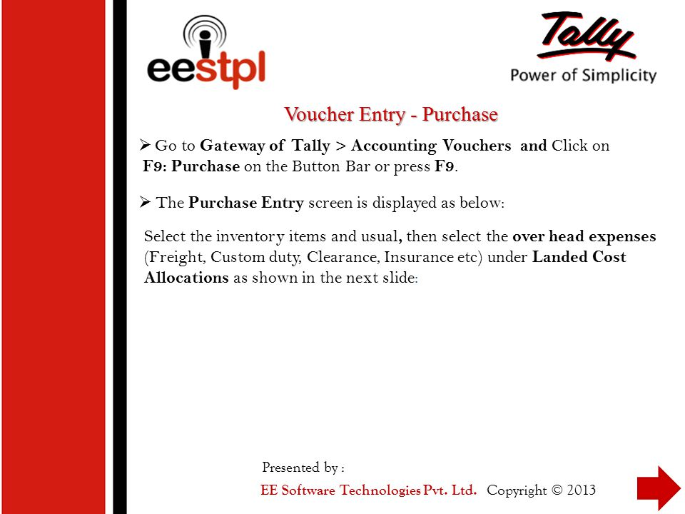 Voucher Entry - Purchase
