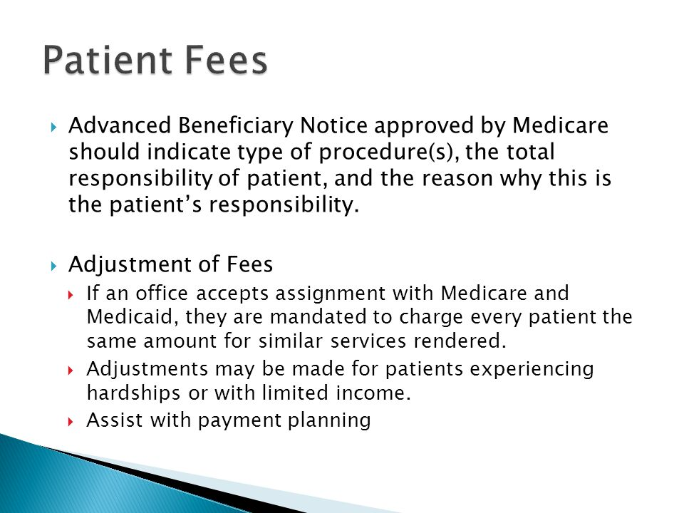 Patient Fees