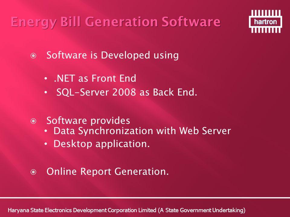 Energy Bill Generation Software