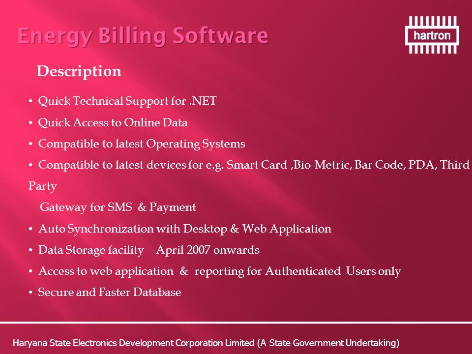 Energy Billing Software