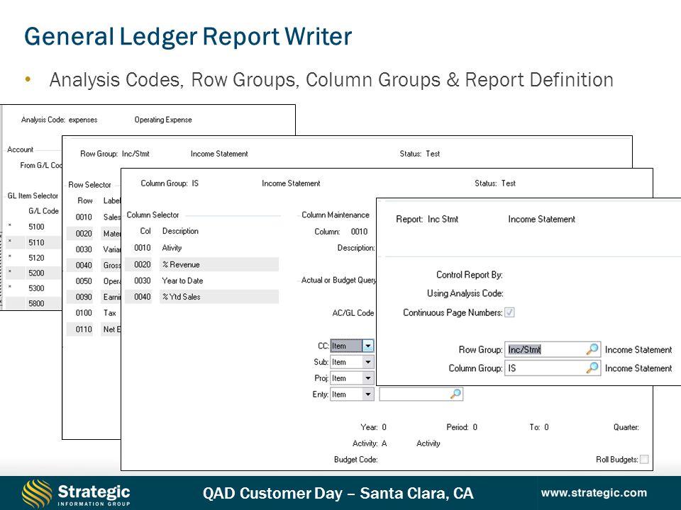 General Ledger Report Writer