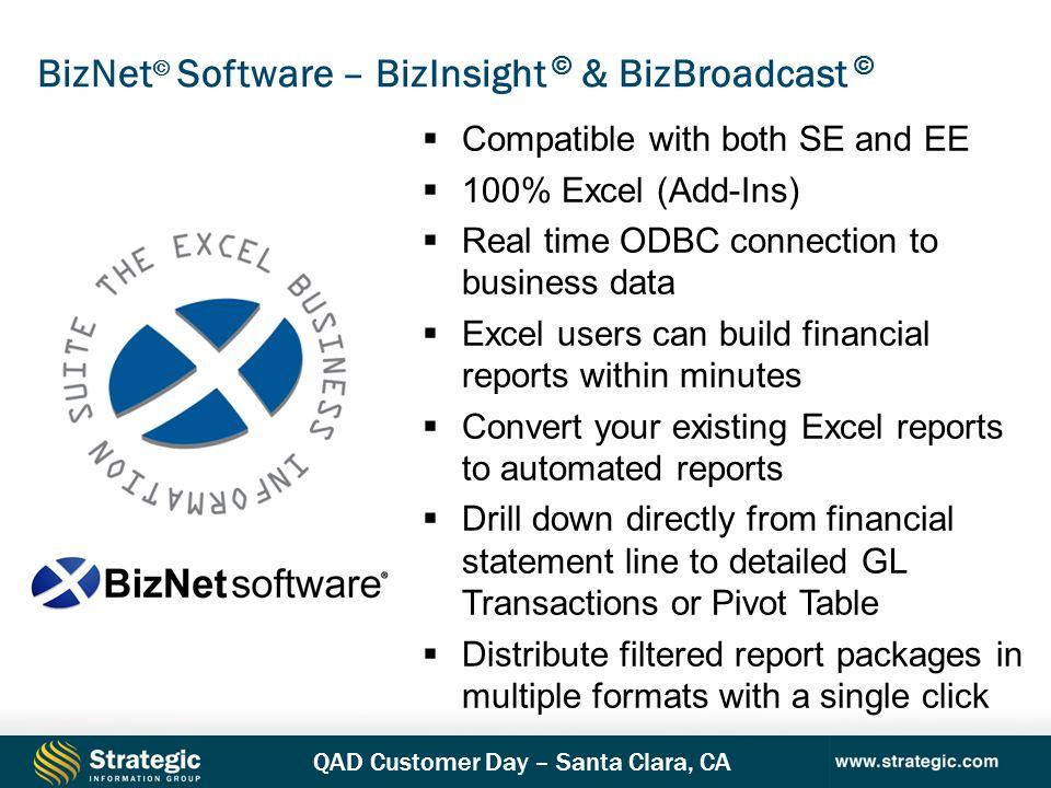 BizNet© Software – BizInsight © & BizBroadcast ©
