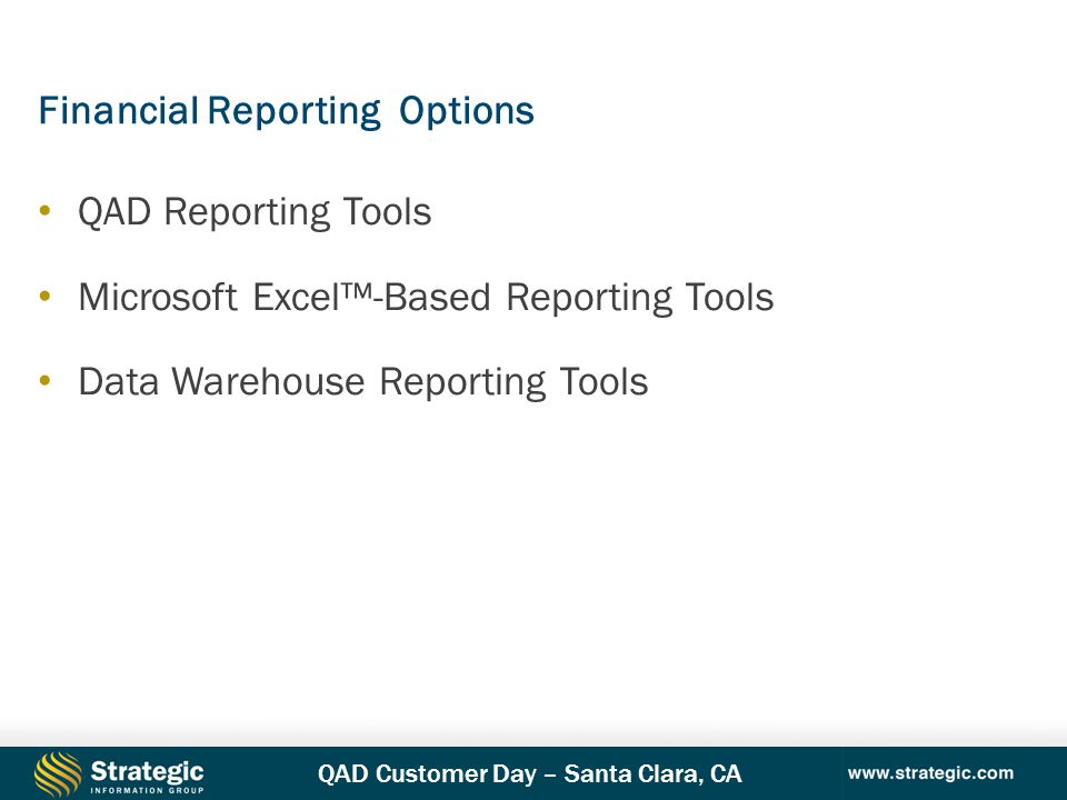 Financial Reporting Options