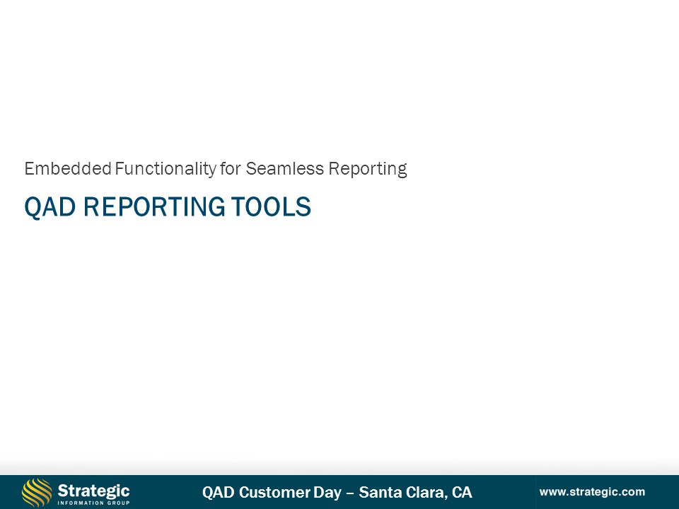 Embedded Functionality for Seamless Reporting