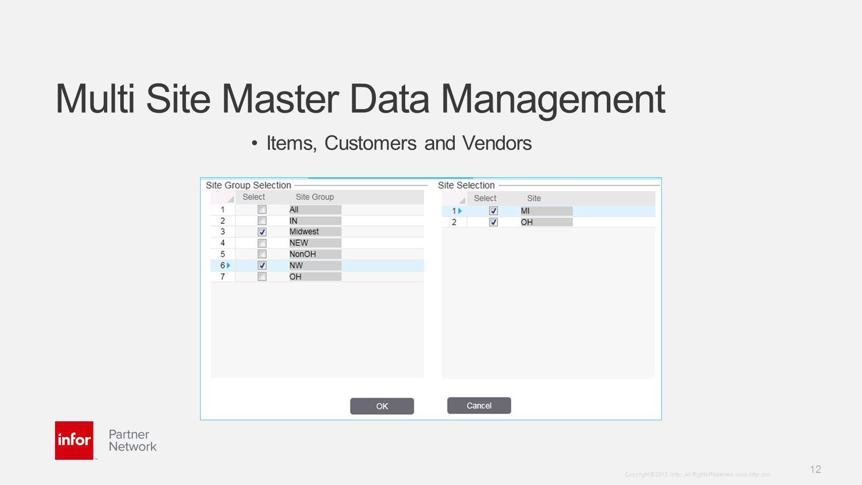 Multi Site Master Data Management