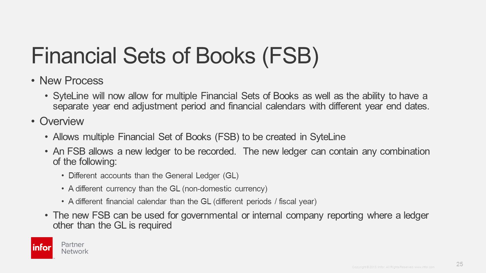 Financial Sets of Books (FSB)