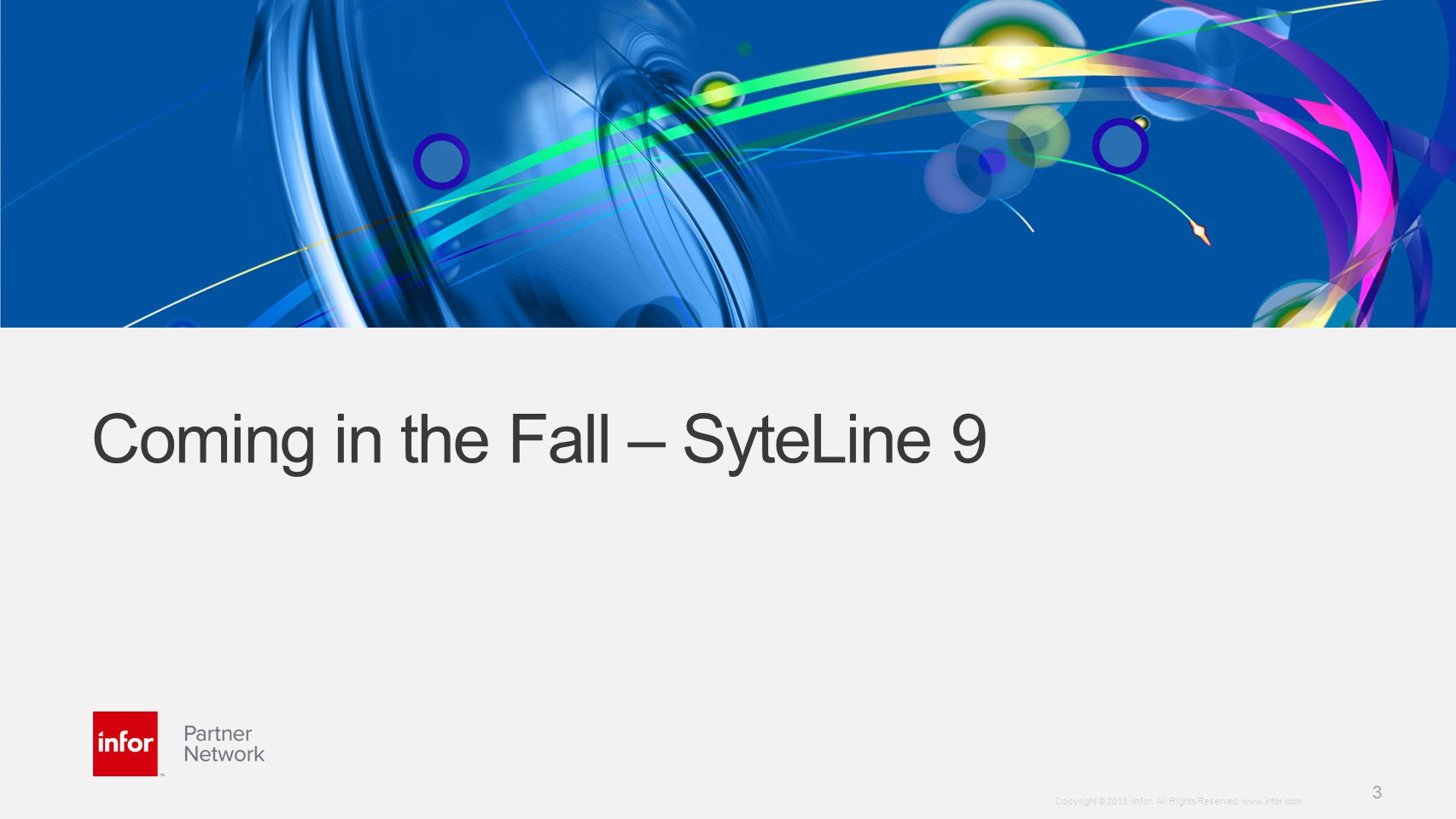 Coming in the Fall – SyteLine 9