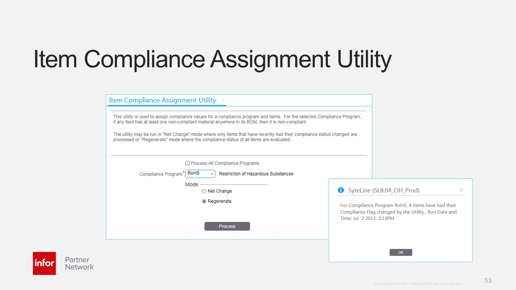 Item Compliance Assignment Utility
