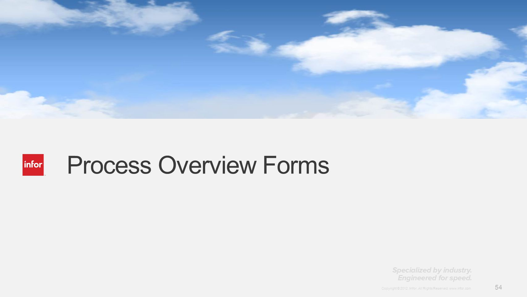 Process Overview Forms