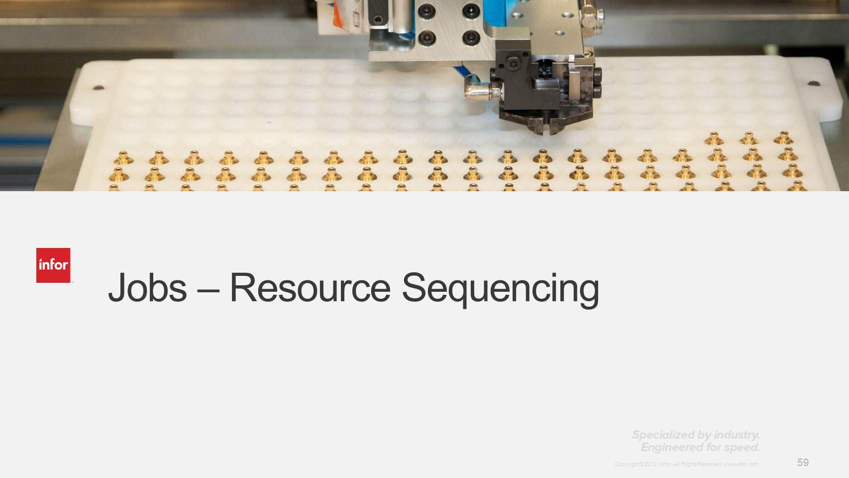 Jobs – Resource Sequencing
