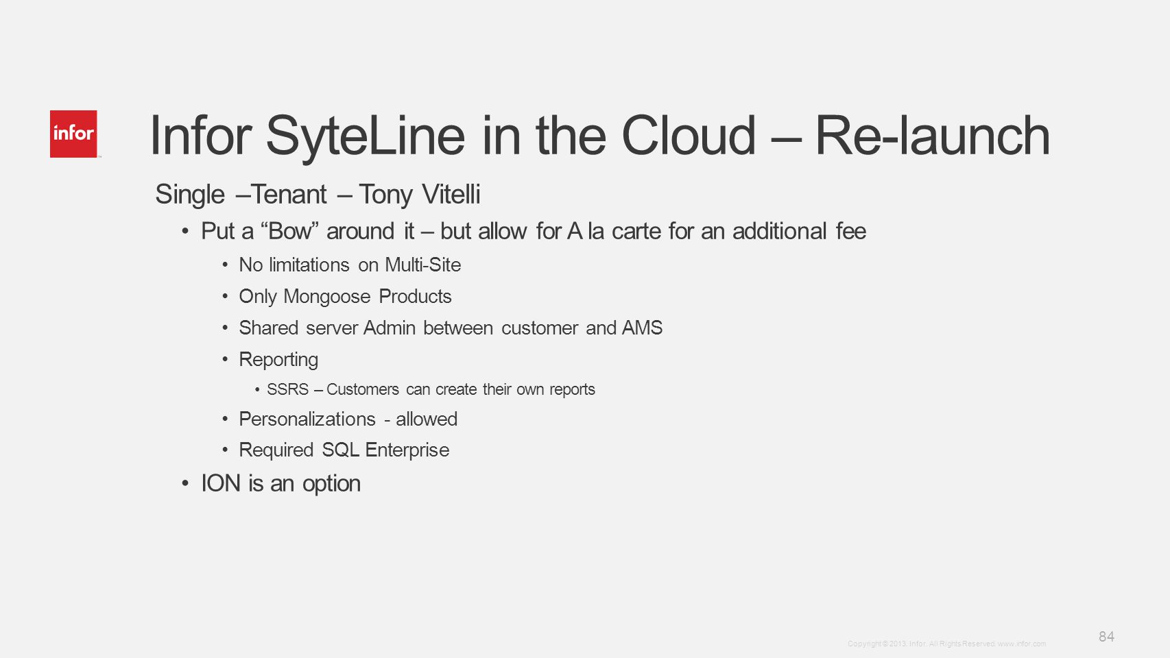 Infor SyteLine in the Cloud – Re-launch