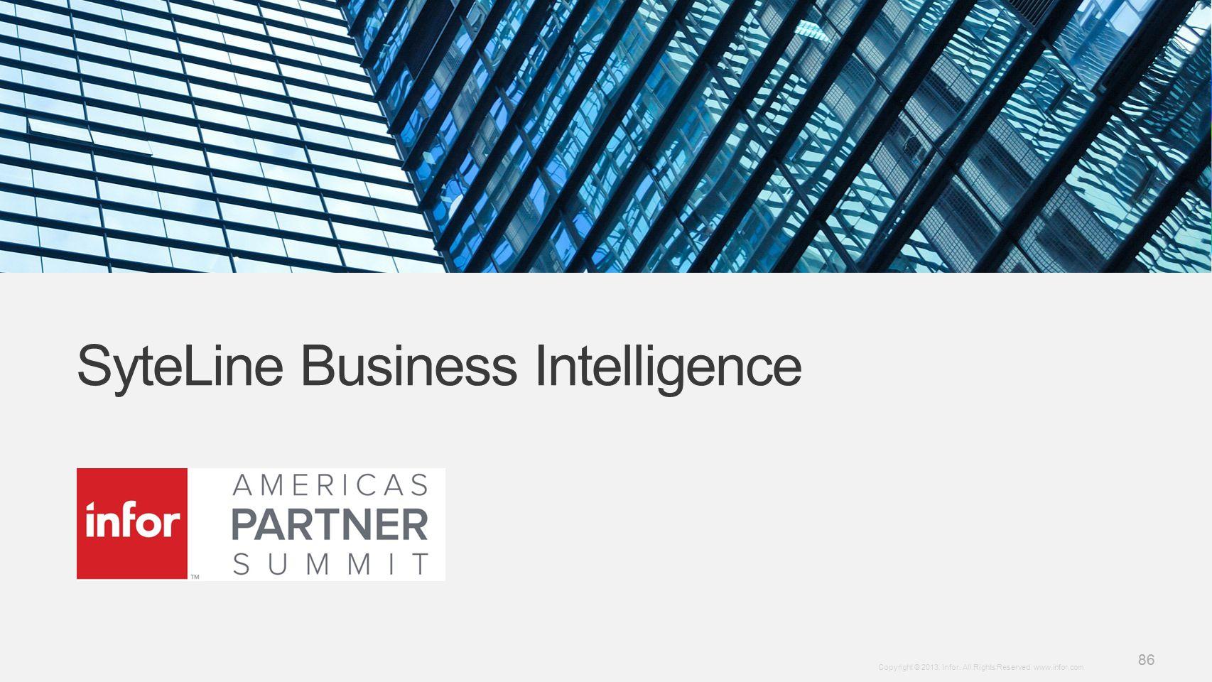 SyteLine Business Intelligence