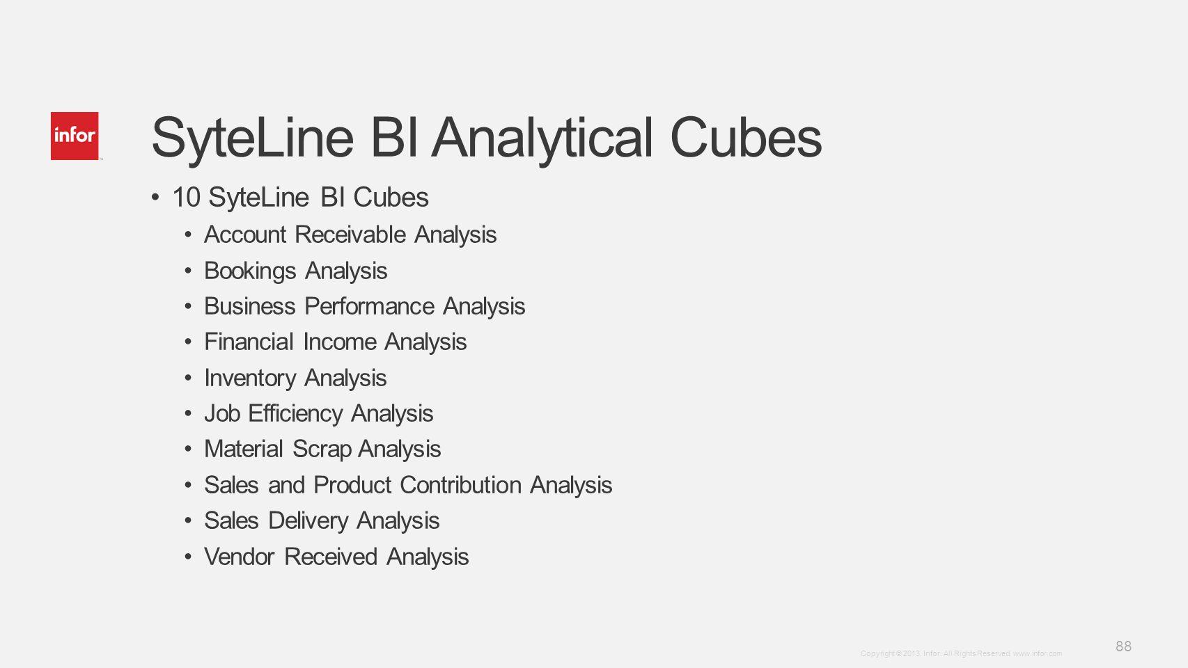 SyteLine BI Analytical Cubes