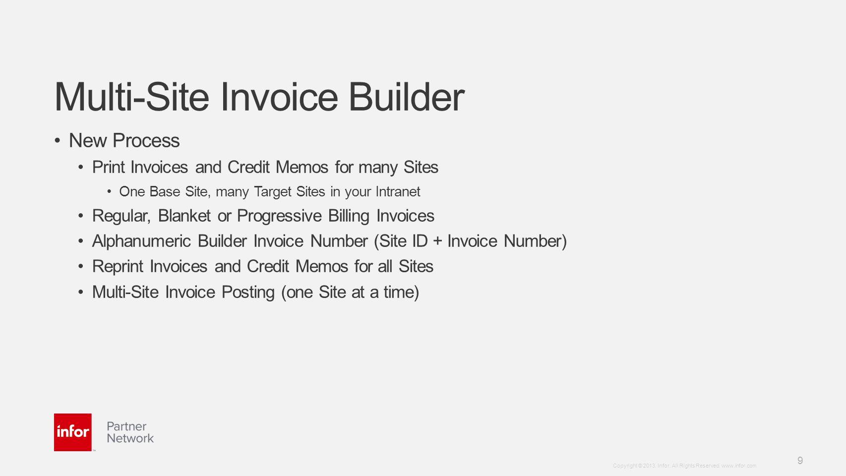 Multi-Site Invoice Builder