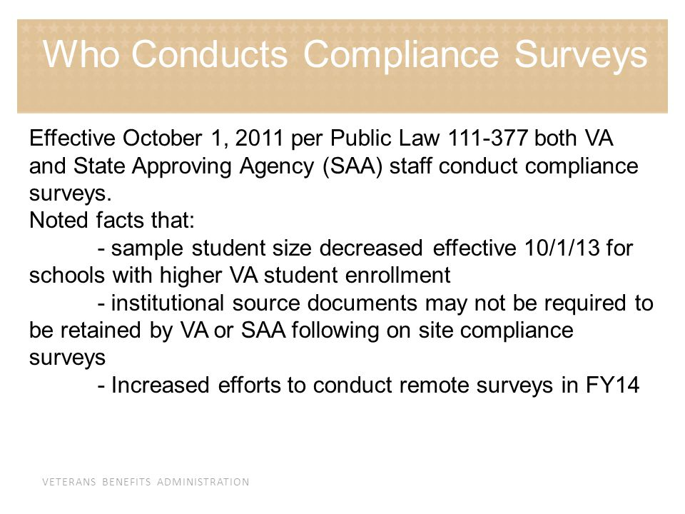 Who Conducts Compliance Surveys