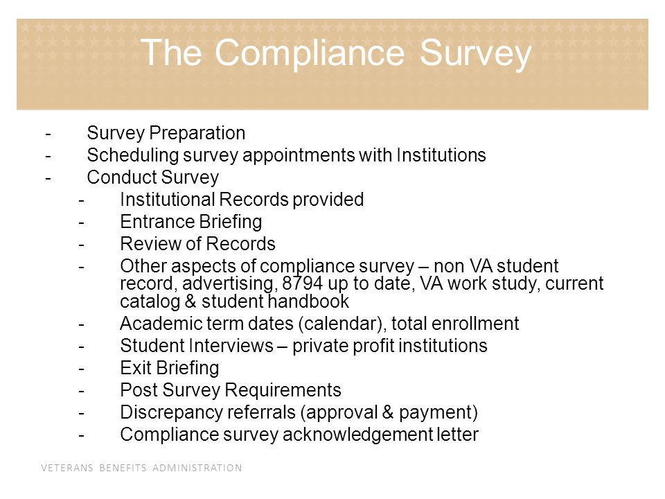 The Compliance Survey Survey Preparation