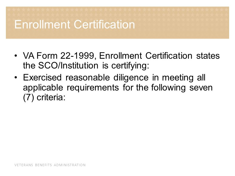 Enrollment Certification